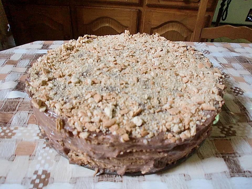 Portugiesischer Kekskuchen Mit Schokoladencremefullung Ohne Backen