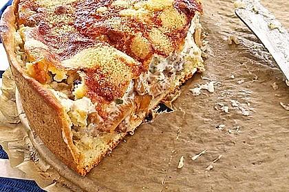 Pfifferlings-Pie mit Hackfleisch 9