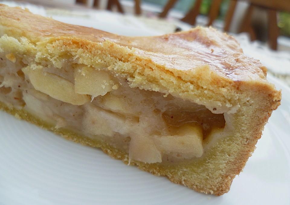 Apfel Birnen Pie Mit Einer Murbeteigdecke Von Pumpkin Pie Chefkoch De