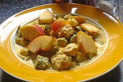 Angeheiterte Curry - Hähnchenpfanne