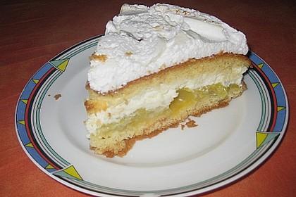 Stachelbeer - Baiser - Torte