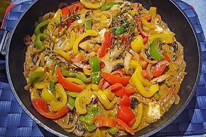 Chilibällchen mit Fetakäse und Paprikagemüse 10