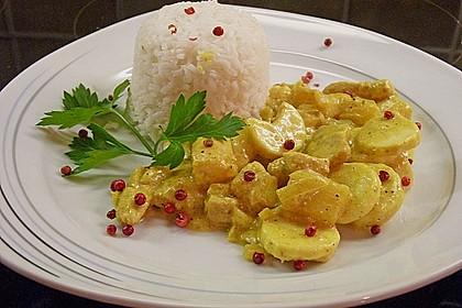 Roros exotisch - sahniger Currytopf mit roten Pfefferbeeren