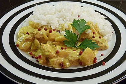 Roros exotisch - sahniger Currytopf mit roten Pfefferbeeren 1