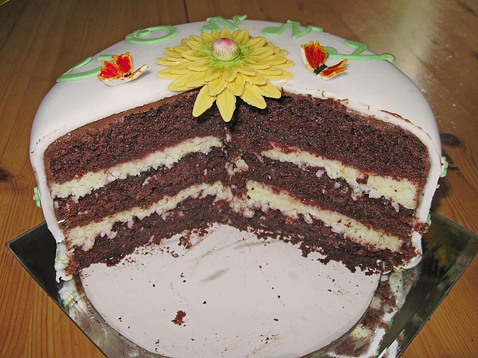 Fruchtige Schoko Kokos Torte Von Ufaudie58 Chefkoch De