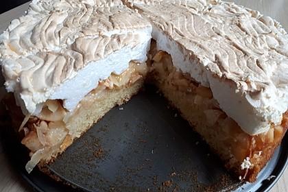 Apfel - Zimt - Kuchen mit Baiser