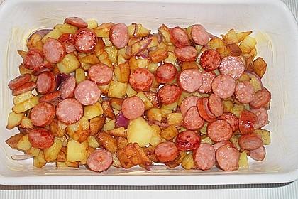 Röstkartoffel - Auflauf mit Krakauer 2