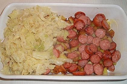 Röstkartoffel - Auflauf mit Krakauer 4