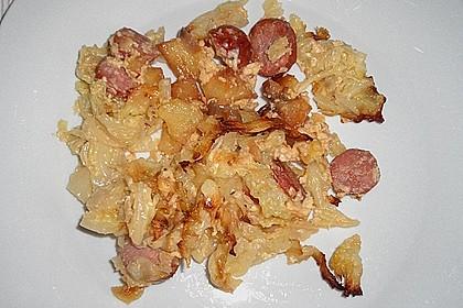 Röstkartoffel - Auflauf mit Krakauer