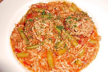 Bohnen - Reis - Topf mit Hackbällchen 1