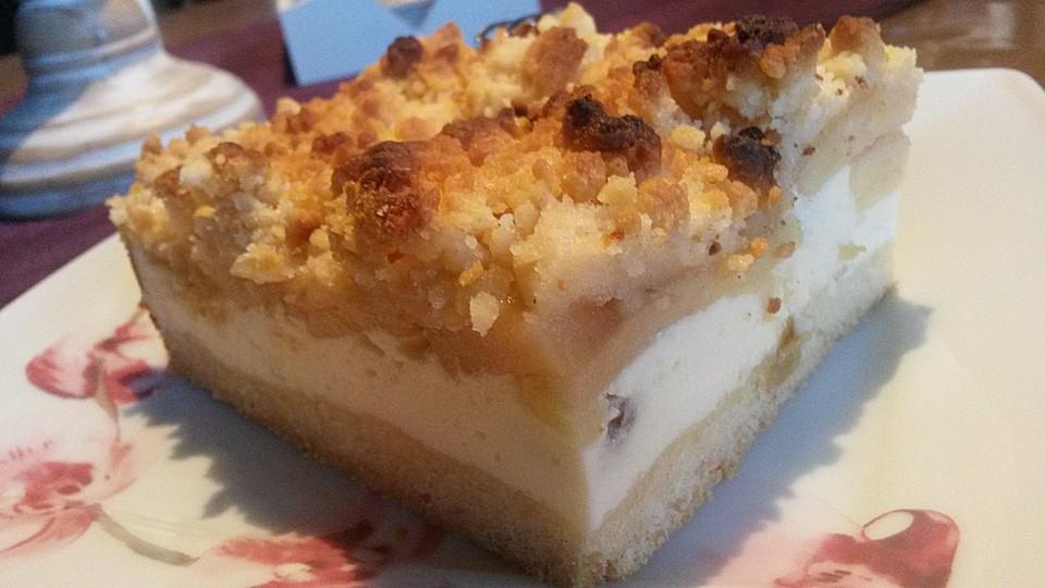 Apfel Quark Kuchen Auf Dem Backblech Von Nudili Chefkoch De