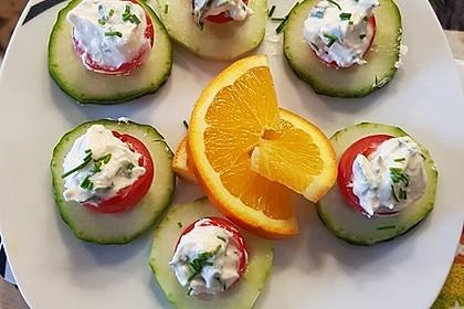Gefüllte Tomaten mit Schafskäse - Creme 6