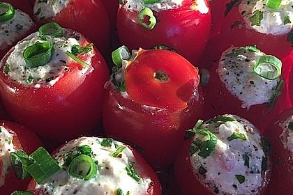 Gefüllte Tomaten mit Schafskäse - Creme 12