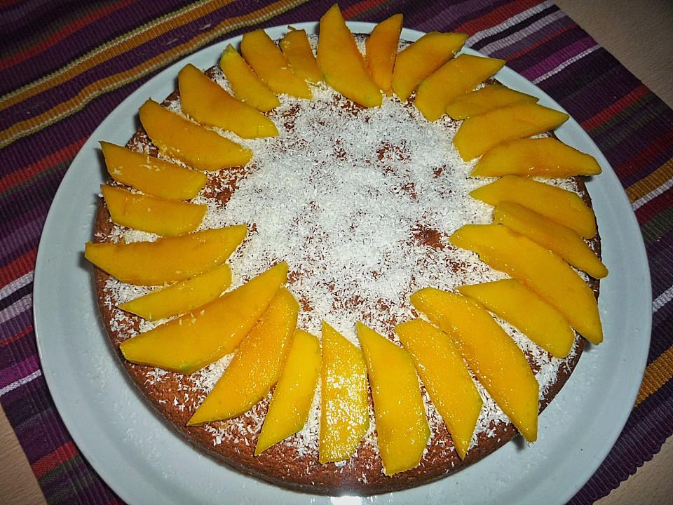 Schoko Mandel Mango Kuchen Von Niklabel Chefkoch De