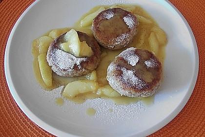 Okara - Haferflocken - Nuss - Bratlinge mit Pfirsichsauce 3