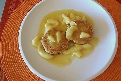 Okara - Haferflocken - Nuss - Bratlinge mit Pfirsichsauce