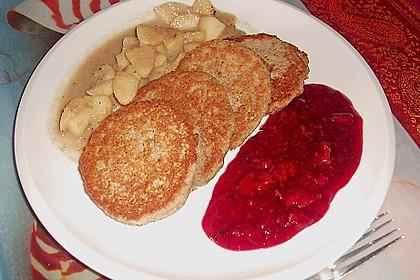 Okara - Haferflocken - Nuss - Bratlinge mit Pfirsichsauce 1