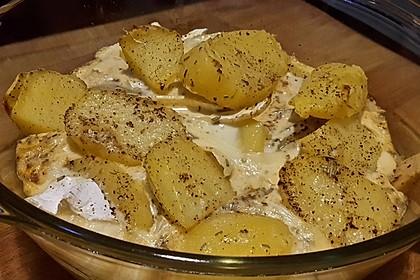 Kartoffel-Apfel-Auflauf mit Camembert 8