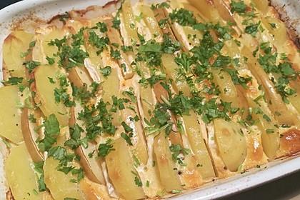 Kartoffel-Apfel-Auflauf mit Camembert 4