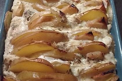Kartoffel-Apfel-Auflauf mit Camembert 14