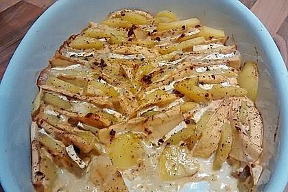 Kartoffel-Apfel-Auflauf mit Camembert 13