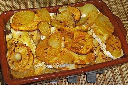 Kartoffel-Apfel-Auflauf mit Camembert 11