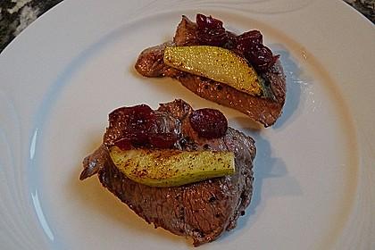Rehschnitzel an Portweinsauce 3