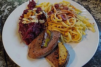 Rehschnitzel an Portweinsauce