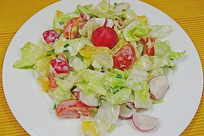 Bunter Salat mit Joghurtdressing 1