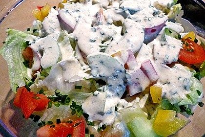 Bunter Salat mit Joghurtdressing 6