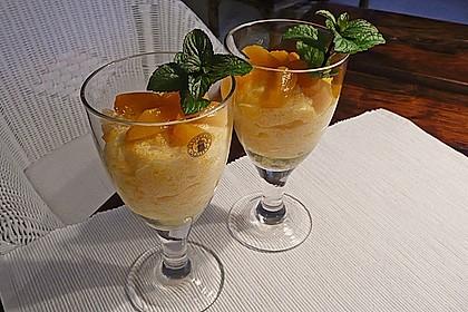 Mangocreme mit Zitronensaft