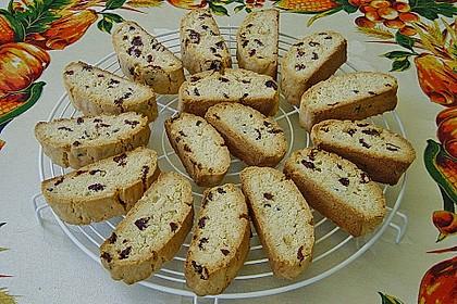Biscotti mit Mandeln und Cranberries 4