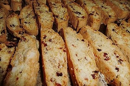 Biscotti mit Mandeln und Cranberries 2