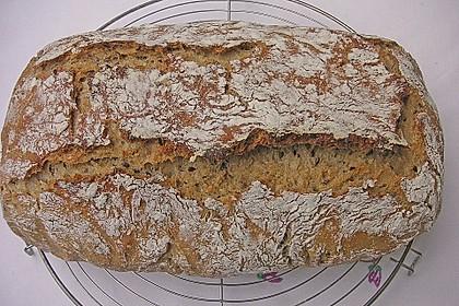 Rustikales Brot im Bräter 21