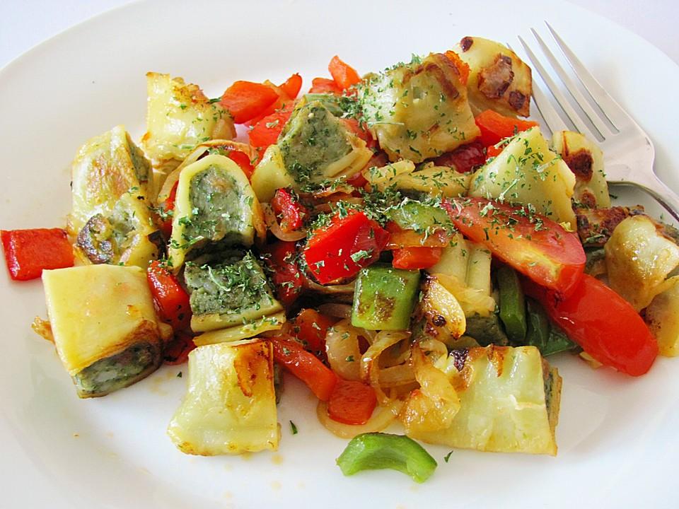 Maultaschen Gemüsepfanne