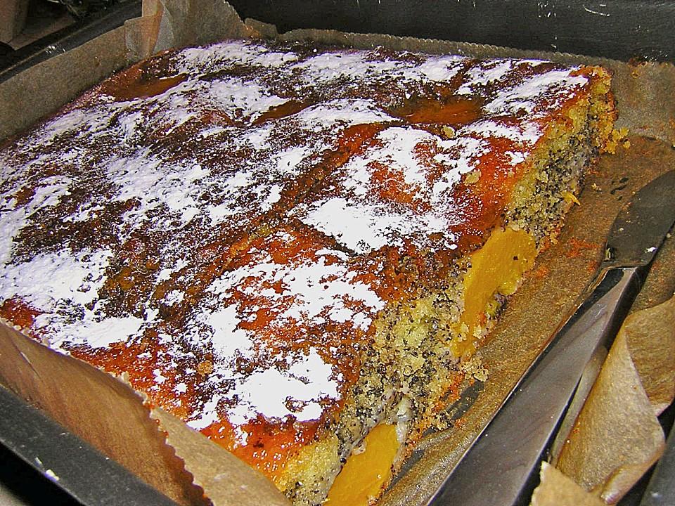 Pfirsich Mohn Blechkuchen Von Lmo Chefkoch De
