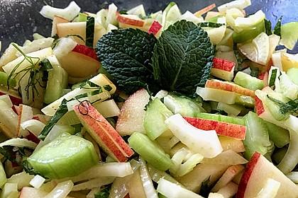 Fenchelsalat mit Apfel und Gurke (Bild)