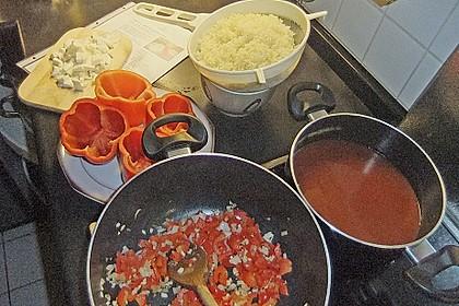 Vegetarisch gefüllte Paprikaschoten 7
