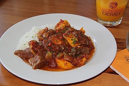 mangobears afrikanisches Gulasch mit Mangos