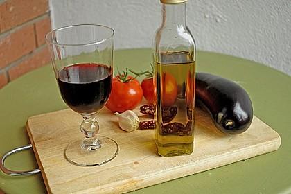 Vegetarische Pastasauce mit Auberginen und frischen Tomaten 1
