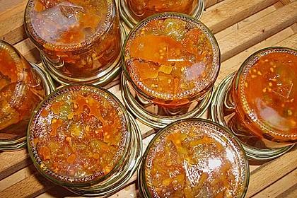 Grünes Tomatenchutney mit Datteln 3