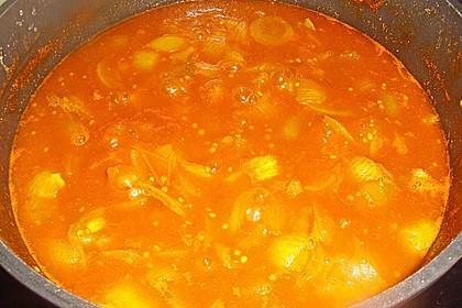 Grünes Tomatenchutney mit Datteln 2