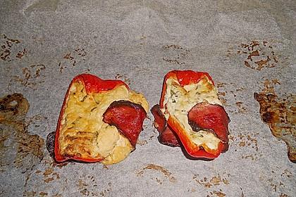 Frischkäse - Paprika - Schiffchen im Speckmantel 73