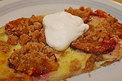 Zwetschgenschnitten mit Pudding und Nuss - Streuseln 3
