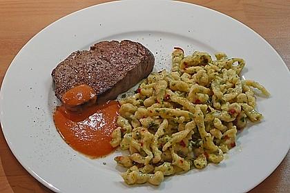 Knoblauch - Chili Spätzle