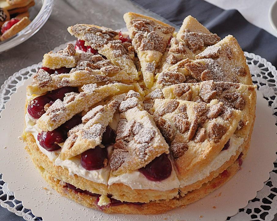 Spekulatius Kirsch Torte Von Knusperflocken Chefkoch De