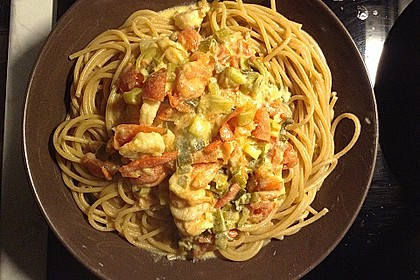 Frischkäsesauce mit Shrimps