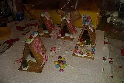 Mini - Hexenhäuschen - aus Keksen (Bild)