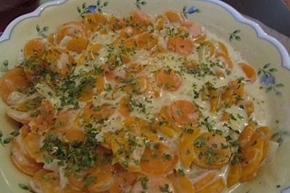 Karotten in weißer Sauce 4