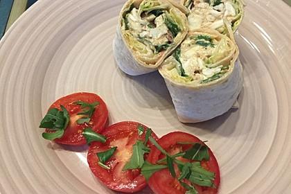 Tortilla mit Caprese - Füllung (Bild)